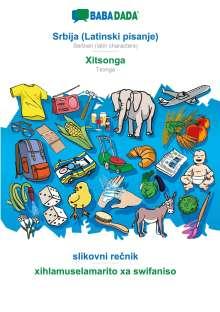 Babadada Gmbh: BABADADA, Srbija (Latinski pisanje) - Xitsonga, slikovni recnik - xihlamuselamarito xa swifaniso, Buch