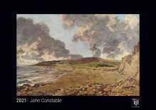 John Constable 2021 - Black Edition - Timokrates Kalender, Wandkalender, Bildkalender - DIN A4 (ca. 30 x 21 cm), Kalender