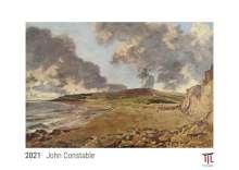 John Constable 2021 - White Edition - Timokrates Kalender, Wandkalender, Bildkalender - DIN A3 (42 x 30 cm), Kalender