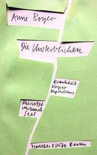 Anne Boyer: Die Unsterblichen, Buch