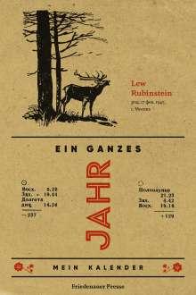Lev Rubinstein: Ein ganzes Jahr, Buch