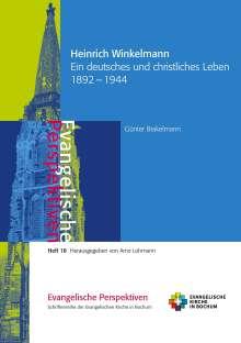 Günter Brakelmann: Heinrich Winkelmann, Buch