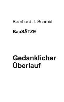 Bernhard J. Schmidt: Gedanklicher Überlauf, Buch