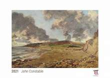 John Constable 2021 - White Edition - Timocrates wall calendar with US holidays / picture calendar / photo calendar - DIN A4 (30 x 21 cm), Kalender