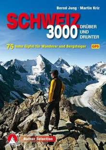 Bernd Jung: Dreitausender Schweiz - drüber und drunter, Buch