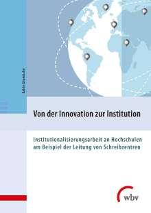 Katrin Girgensohn: Von der Innovation zur Institution, Buch
