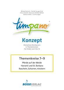 TIMPANO - Drei Themenkreise im März: Pferde auf der Weide / Hanami und St. Barbara / Rascheln, Scharren, Knistern, Noten