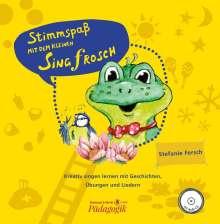 Stimmspaß mit dem kleinen Singfrosch. Bilderbuch mit CD-Audio, Buch