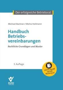 Michael Bachner: Handbuch Betriebsvereinbarungen, Buch