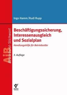 Ingo Hamm: Beschäftigungssicherung, Interessenausgleich und Sozialplan, Buch