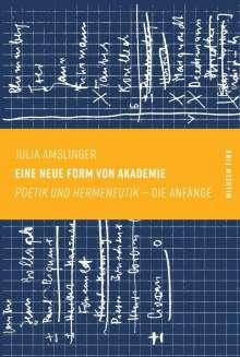 Julia Amslinger: Eine neue Form von Akademie, Buch