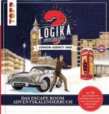 Linnéa Bergsträsser: Logika Adventskalenderbuch - London Agency 1960: Mit 24 illustrierten Logikrätsel durch den Advent, Buch