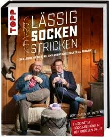 Dennis van den Brink: Lässig Socken stricken mit DenDennis und Mr. Knitbear. Das Leben ist zu kurz, um langweilige Socken zu tragen!, Buch