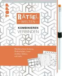 Stefan Heine: Rätselwelten - Rätseln, Kombinieren & Verbinden: Wunderschöne Arukone, Drehscheiben, Laserstrahlen, Sikakus und mehr, Buch