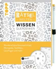 Stefan Heine: Rätselwelten - Rätseln, Wissen & Querdenken: Wunderschöne Kreuzworträtsel, Wortspiele, Textfallen, Quizfragen und mehr, Buch