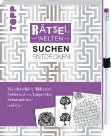 Stefan Heine: Rätselwelten - Rätseln, Suchen & Entdecken: Wunderschöne Bildrätsel, Fehlersuchen, Labyrinthe, Schattenbilder und mehr, Buch