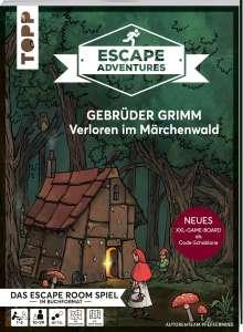 Autorenteam Pfeffermind: Escape Adventures - Gebrüder Grimm: Verloren im Märchenwald (NEUE Codeschablone für mehr Rätselspaß), Buch