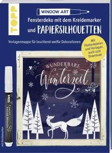 Miriam Dornemann: Vorlagenmappe Fensterdeko mit dem Kreidemarker & Papiersilhouetten - Wunderbare Winterzeit., Buch