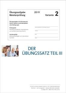 Lothar Semper: Der Übungssatz Teil III - Variante 2, Buch