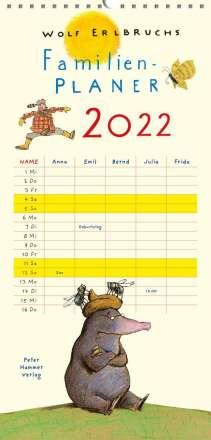 Wolf Erlbruch: Wolf Erlbruchs Familienplaner 2022, Kalender