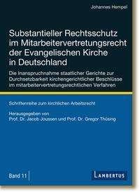Johannes Hempel: Substantieller Rechtsschutz im Mitarbeitervertretungsrecht der Evangelischen Kirche in Deutschland, Buch