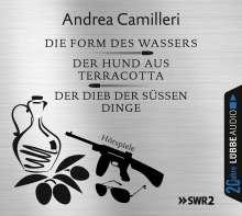 Andrea Camilleri (1925-2019): Die Form des Wassers / Der Hund aus Terracotta / Der Dieb der süßen Dinge, 6 CDs