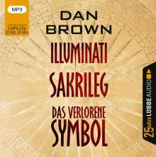Dan Brown: Illuminati / Sakrileg / Das verlorene Symbol, 3 Diverse
