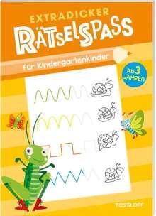 Extradicker Rätselspaß für Kindergartenkinder, Buch