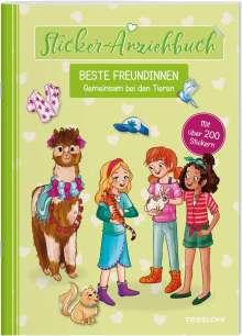 Julia Reindl: Sticker-Anziehbuch. Beste Freundinnen. Gemeinsam bei den Tieren., Buch
