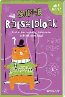 Stefan Heine: Super Rätselblock ab 8 Jahren.Sudokus, Kreuzwörträtsel, Geheimcodes und viele andere Rätsel, Buch