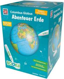 """Manfred Baur: BOOKii WAS IST WAS Columbus Globus """"Abenteuer Erde"""". Mit Hörstift, Diverse"""