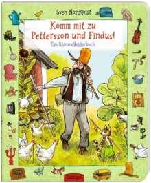 Sven Nordqvist: Komm mit zu Pettersson und Findus! Ein Wimmelbilderbuch, Buch