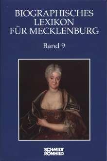 Biographisches Lexikon für Mecklenburg Band 9, Buch