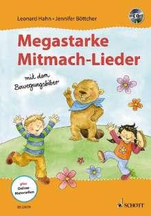 Leonard Hahn: Megastarke Mitmach-Lieder - mit dem Bewegungsbiber, Buch