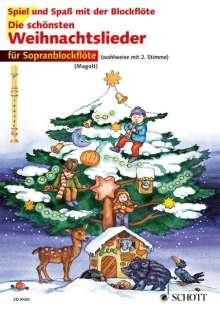 Die schönsten Weihnachtslieder. 1-2 Sopran-Blockflöten, Noten
