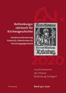 Rottenburger Jahrbuch für Kirchengeschichte 39/2020, Buch
