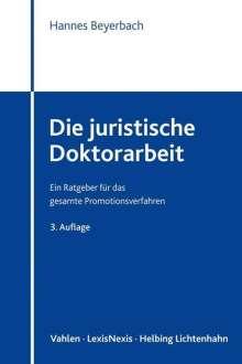 Hannes Beyerbach: Die juristische Doktorarbeit, Buch