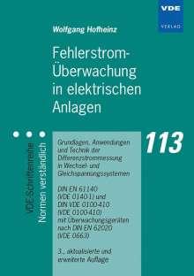 Wolfgang Hofheinz: Fehlerstrom-Überwachung in elektrischen Anlagen, Buch
