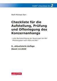 Wolf-Michael Farr: Checkliste 2 für die Aufstellung, Prüfung und Offenlegung des Konzernanhangs, Buch