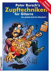 Peter Bursch: Peter Bursch's Zupftechniken für Gitarre, Noten