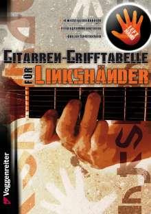 Jeromy Bessler: Gitarren-Grifftabelle für Linkshänder, Noten