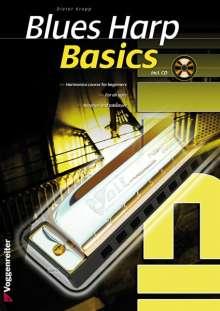 Dieter Kropp: Blues Harp Basics, w. Audio-CD, English edition, Noten
