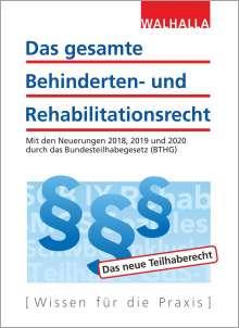 Walhalla Fachredaktion: Das gesamte Behinderten- und Rehabilitationsrecht, Buch