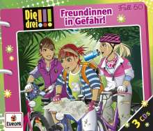 Maja von Vogel: Die drei !!! 50: Freundinnen in Gefahr (3 Audio-CDs), 3 CDs