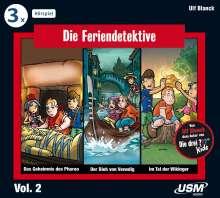 Die Feriendetektive Hörbox 2, 3 CDs