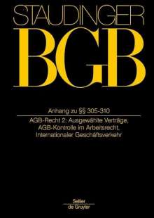 Staudingers Kommentar BGB Anh zu §§ 305-310, Buch