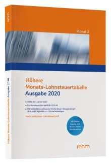 Höhere Monats-Lohnsteuertabelle 2020, Buch