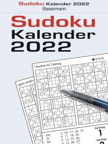 Eberhard Krüger: Sudokukalender 2022. Der beliebte Tagesabreißkalender, Kalender