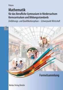 Marion Patyna: Formelsammlung - Mathematik für das Berufliche Gymnasium in Niedersachsen, Buch
