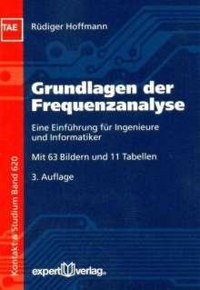 Rüdiger Hoffmann: Grundlagen der Frequenzanalyse, Buch